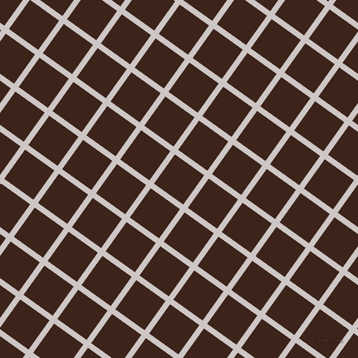 54/144 degree angle diagonal checkered chequered lines, 8 pixel line width, 51 pixel square size, Alto and Brown Pod plaid checkered seamless tileable