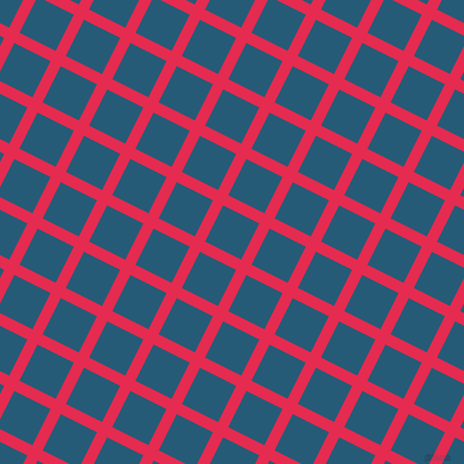 63/153 degree angle diagonal checkered chequered lines, 16 pixel line width, 57 pixel square size, Amaranth and Orient plaid checkered seamless tileable