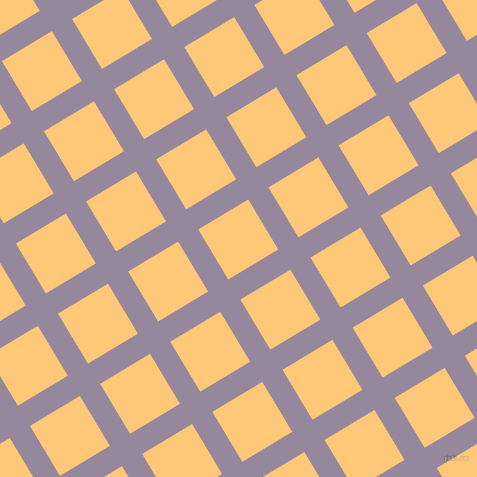 31/121 degree angle diagonal checkered chequered lines, 34 pixel line width, 84 pixel square size, Amethyst Smoke and Chardonnay plaid checkered seamless tileable
