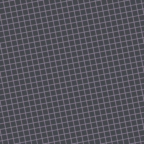 11/101 degree angle diagonal checkered chequered lines, 2 pixel lines width, 16 pixel square size, Amethyst Smoke and Steel Grey plaid checkered seamless tileable