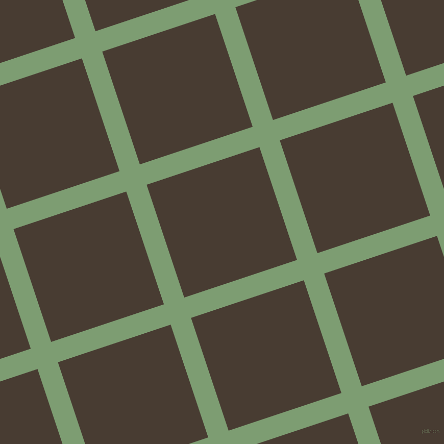 18/108 degree angle diagonal checkered chequered lines, 42 pixel lines width, 233 pixel square size, Amulet and Taupe plaid checkered seamless tileable