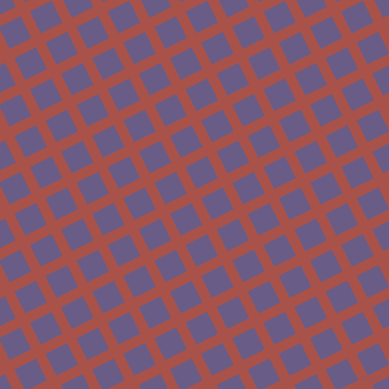 27/117 degree angle diagonal checkered chequered lines, 15 pixel line width, 35 pixel square size, Apple Blossom and Kimberly plaid checkered seamless tileable