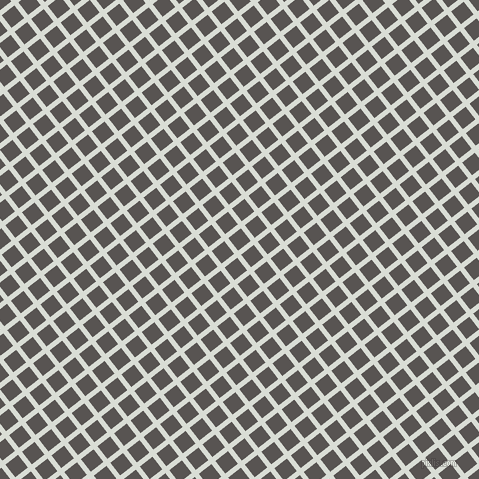 38/128 degree angle diagonal checkered chequered lines, 5 pixel lines width, 16 pixel square size, Aqua Haze and Tundora plaid checkered seamless tileable