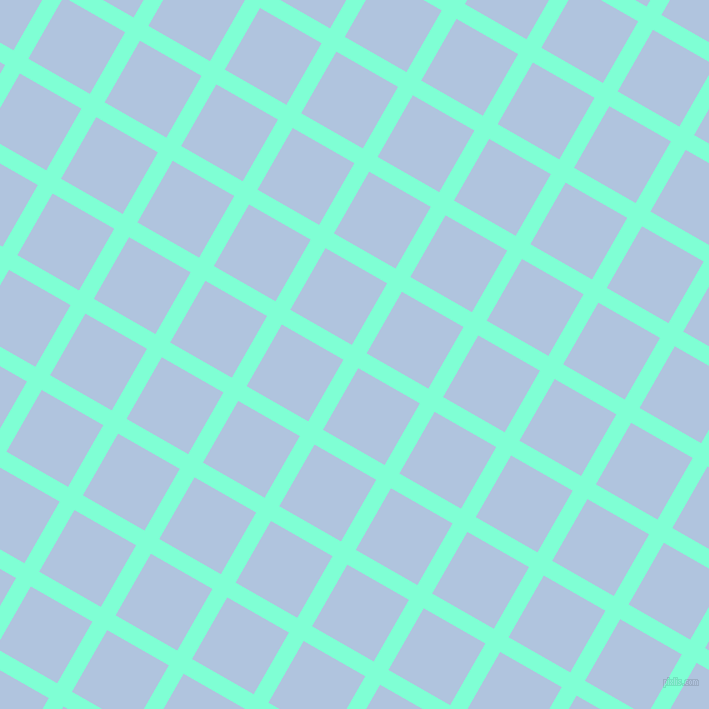 60/150 degree angle diagonal checkered chequered lines, 17 pixel lines width, 71 pixel square size, Aquamarine and Light Steel Blue plaid checkered seamless tileable