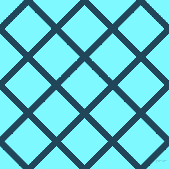 45/135 degree angle diagonal checkered chequered lines, 22 pixel line width, 115 pixel square size, Astronaut Blue and Electric Blue plaid checkered seamless tileable