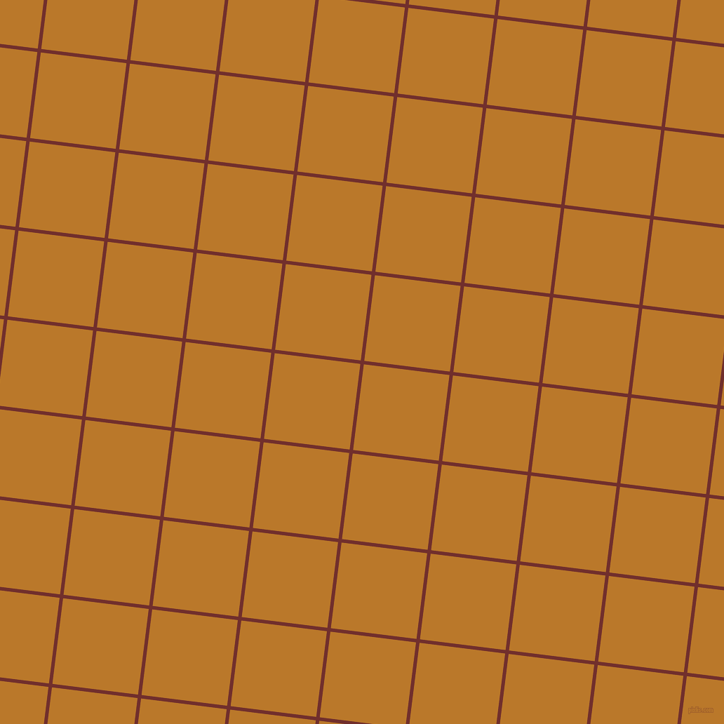 83/173 degree angle diagonal checkered chequered lines, 5 pixel line width, 123 pixel square size, Auburn and Pirate Gold plaid checkered seamless tileable