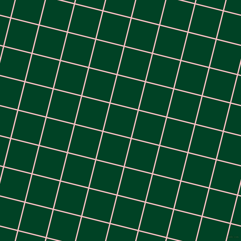76/166 degree angle diagonal checkered chequered lines, 4 pixel lines width, 89 pixel square size, Azalea and British Racing Green plaid checkered seamless tileable