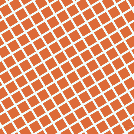 31/121 degree angle diagonal checkered chequered lines, 7 pixel lines width, 31 pixel square size, Azure and Sorbus plaid checkered seamless tileable
