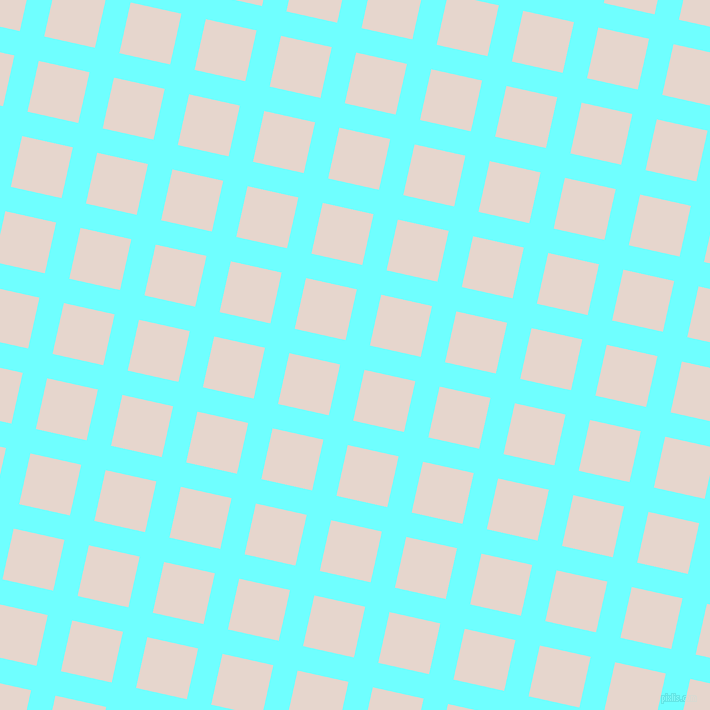 77/167 degree angle diagonal checkered chequered lines, 25 pixel line width, 52 pixel square size, Baby Blue and Dawn Pink plaid checkered seamless tileable
