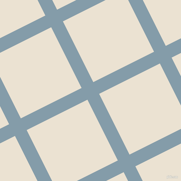 27/117 degree angle diagonal checkered chequered lines, 42 pixel line width, 218 pixel square size, Bali Hai and Quarter Spanish White plaid checkered seamless tileable