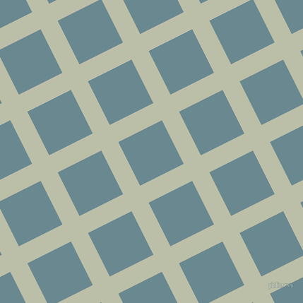 27/117 degree angle diagonal checkered chequered lines, 27 pixel lines width, 69 pixel square size, Beryl Green and Gothic plaid checkered seamless tileable