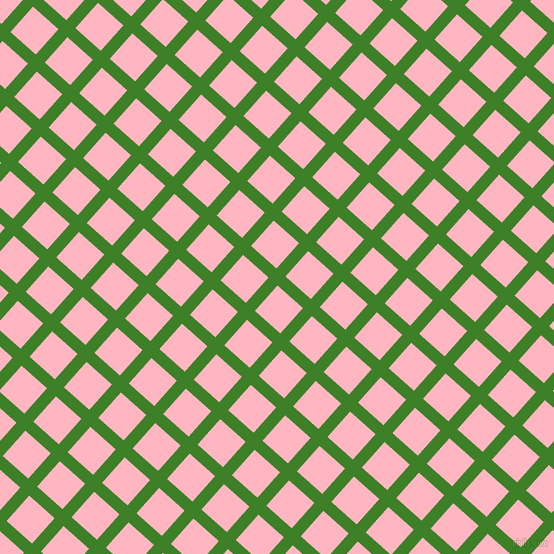 48/138 degree angle diagonal checkered chequered lines, 12 pixel line width, 34 pixel square size, Bilbao and Light Pink plaid checkered seamless tileable