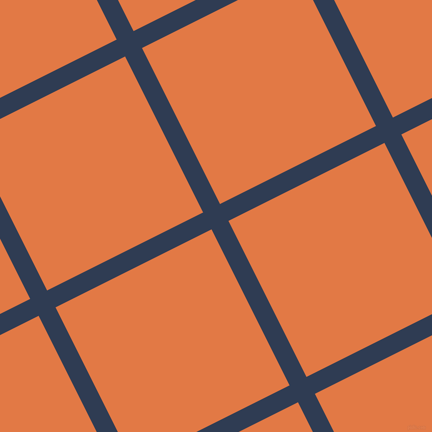 27/117 degree angle diagonal checkered chequered lines, 37 pixel lines width, 342 pixel square size, Biscay and Jaffa plaid checkered seamless tileable