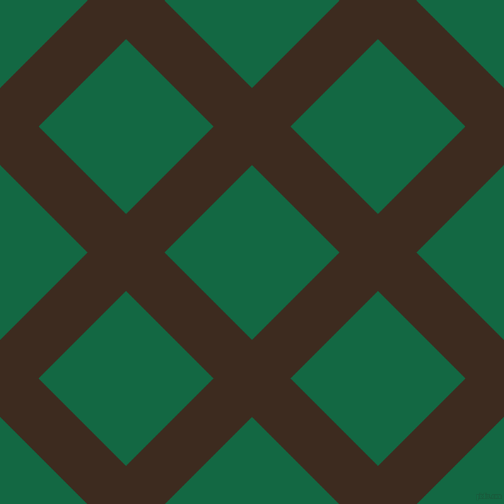 45/135 degree angle diagonal checkered chequered lines, 77 pixel lines width, 175 pixel square size, Bistre and Jewel plaid checkered seamless tileable