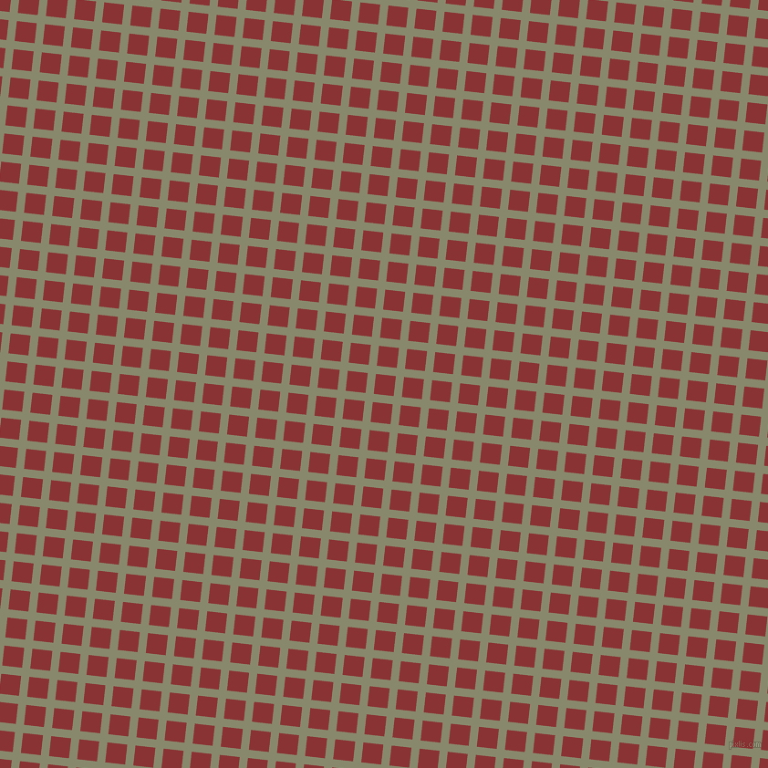 84/174 degree angle diagonal checkered chequered lines, 9 pixel lines width, 22 pixel square size, Bitter and Old Brick plaid checkered seamless tileable
