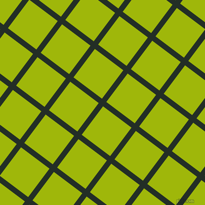 53/143 degree angle diagonal checkered chequered lines, 11 pixel line width, 72 pixel square size, Black Bean and Citrus plaid checkered seamless tileable