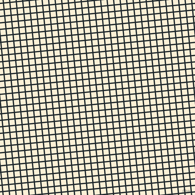 6/96 degree angle diagonal checkered chequered lines, 5 pixel line width, 21 pixel square size, Black Pearl and Half Dutch White plaid checkered seamless tileable