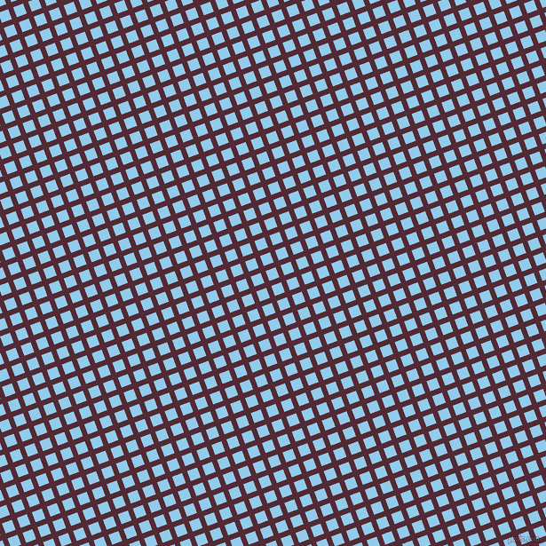 21/111 degree angle diagonal checkered chequered lines, 6 pixel line width, 12 pixel square size, Black Rose and Cornflower plaid checkered seamless tileable