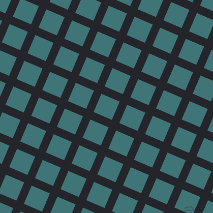 67/157 degree angle diagonal checkered chequered lines, 16 pixel line width, 39 pixel square size, Black Russian and Ming plaid checkered seamless tileable