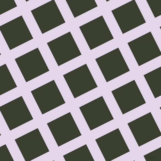 27/117 degree angle diagonal checkered chequered lines, 39 pixel lines width, 99 pixel square size, Blue Chalk and Log Cabin plaid checkered seamless tileable