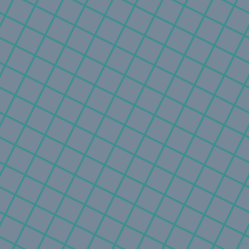 63/153 degree angle diagonal checkered chequered lines, 7 pixel lines width, 71 pixel square size, Blue Chill and Light Slate Grey plaid checkered seamless tileable