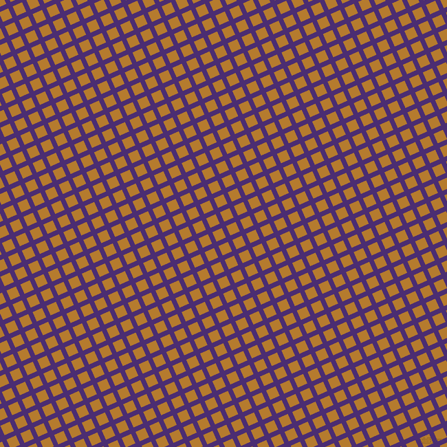 24/114 degree angle diagonal checkered chequered lines, 7 pixel lines width, 15 pixel square size, Blue Diamond and Mandalay plaid checkered seamless tileable