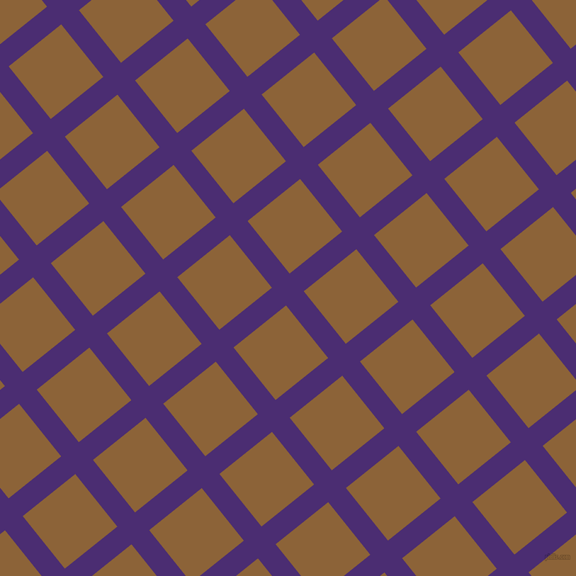 39/129 degree angle diagonal checkered chequered lines, 32 pixel line width, 95 pixel square size, Blue Diamond and McKenzie plaid checkered seamless tileable