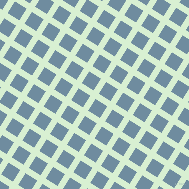 58/148 degree angle diagonal checkered chequered lines, 21 pixel lines width, 47 pixel square size, Blue Romance and Bermuda Grey plaid checkered seamless tileable