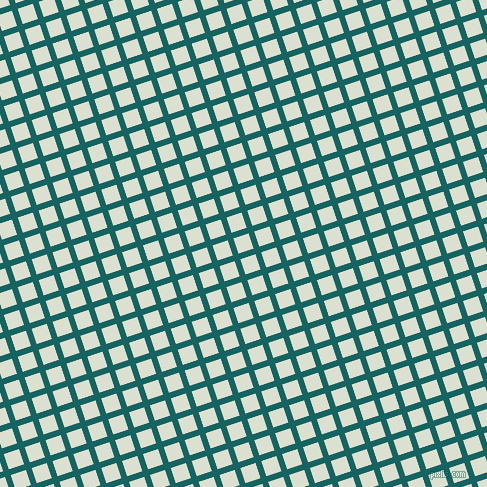 18/108 degree angle diagonal checkered chequered lines, 6 pixel lines width, 16 pixel square size, Blue Stone and Feta plaid checkered seamless tileable