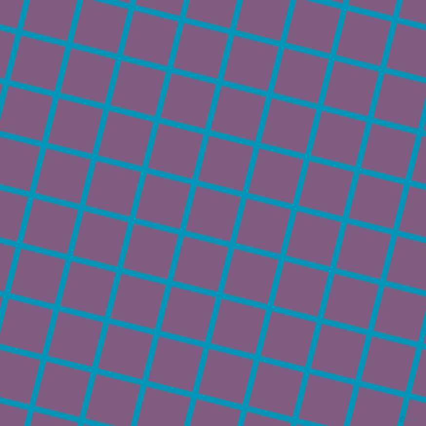 76/166 degree angle diagonal checkered chequered lines, 12 pixel lines width, 94 pixel square size, Bondi Blue and Trendy Pink plaid checkered seamless tileable