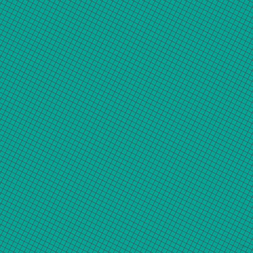 63/153 degree angle diagonal checkered chequered lines, 1 pixel line width, 14 pixel square size, Bossanova and Persian Green plaid checkered seamless tileable