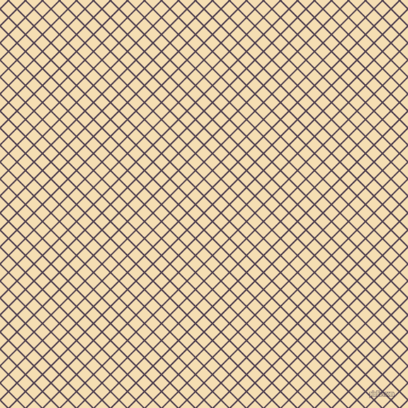 45/135 degree angle diagonal checkered chequered lines, 2 pixel lines width, 15 pixel square size, Bossanova and Wheat plaid checkered seamless tileable