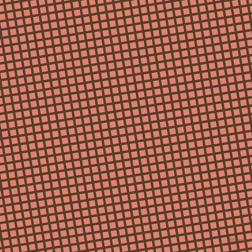 9/99 degree angle diagonal checkered chequered lines, 5 pixel lines width, 12 pixel square size, Bracken and New York Pink plaid checkered seamless tileable