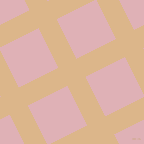 27/117 degree angle diagonal checkered chequered lines, 84 pixel lines width, 184 pixel square size, Brandy and Blossom plaid checkered seamless tileable