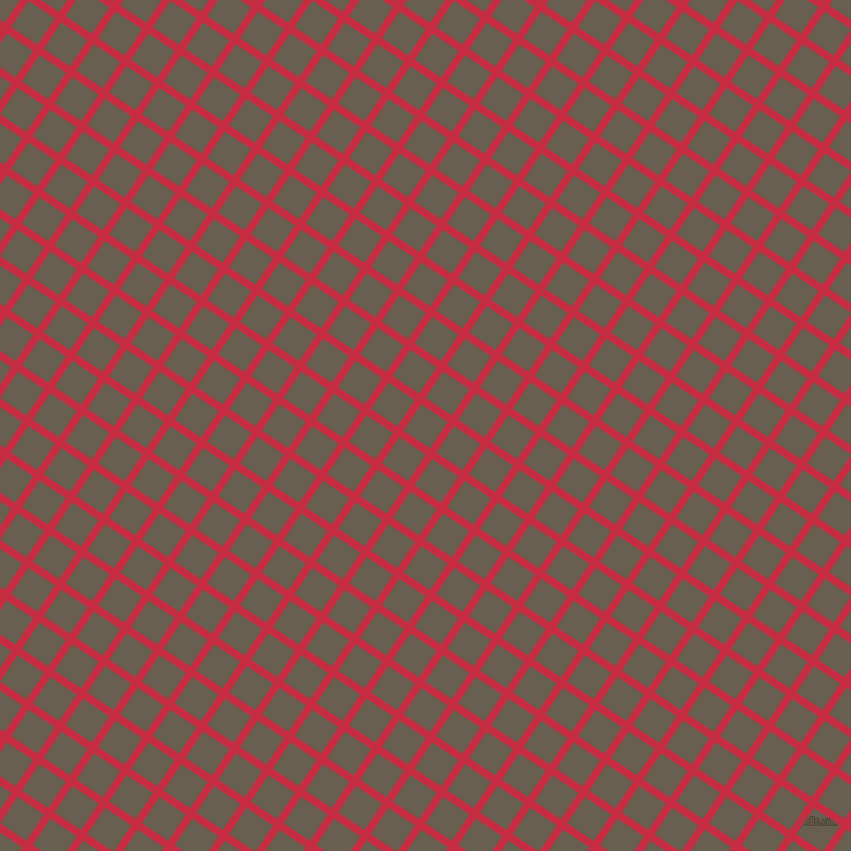 56/146 degree angle diagonal checkered chequered lines, 7 pixel line width, 29 pixel square size, Brick Red and Makara plaid checkered seamless tileable