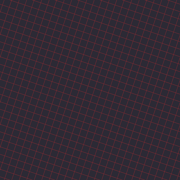 72/162 degree angle diagonal checkered chequered lines, 1 pixel lines width, 23 pixel square size, Bright Red and Haiti plaid checkered seamless tileable