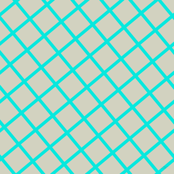 40/130 degree angle diagonal checkered chequered lines, 11 pixel lines width, 65 pixel square size, Bright Turquoise and Celeste plaid checkered seamless tileable