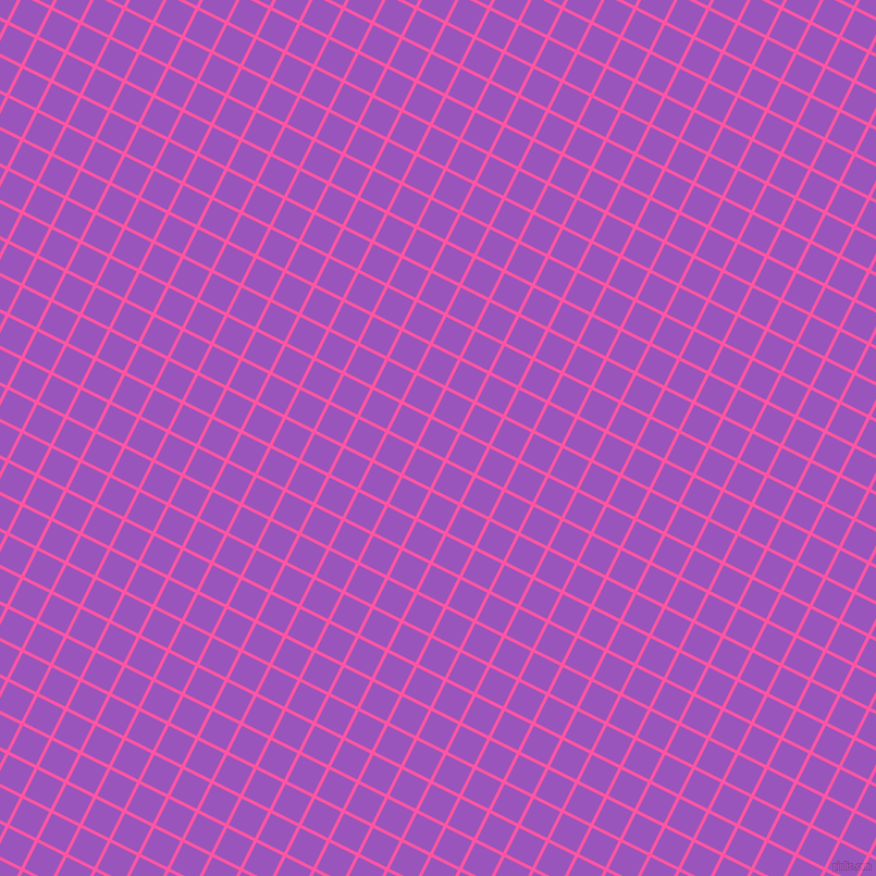 63/153 degree angle diagonal checkered chequered lines, 3 pixel line width, 27 pixel square size, Brilliant Rose and Deep Lilac plaid checkered seamless tileable