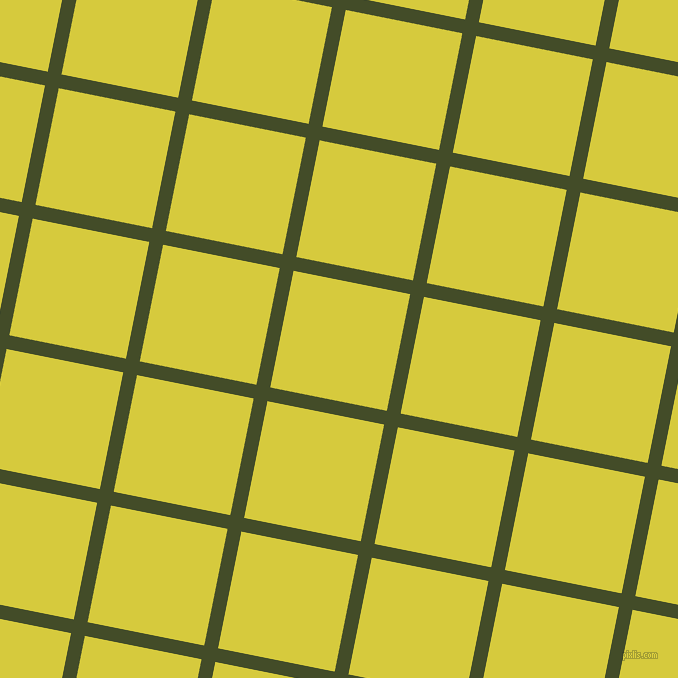 79/169 degree angle diagonal checkered chequered lines, 14 pixel lines width, 119 pixel square size, Bronzetone and Wattle plaid checkered seamless tileable