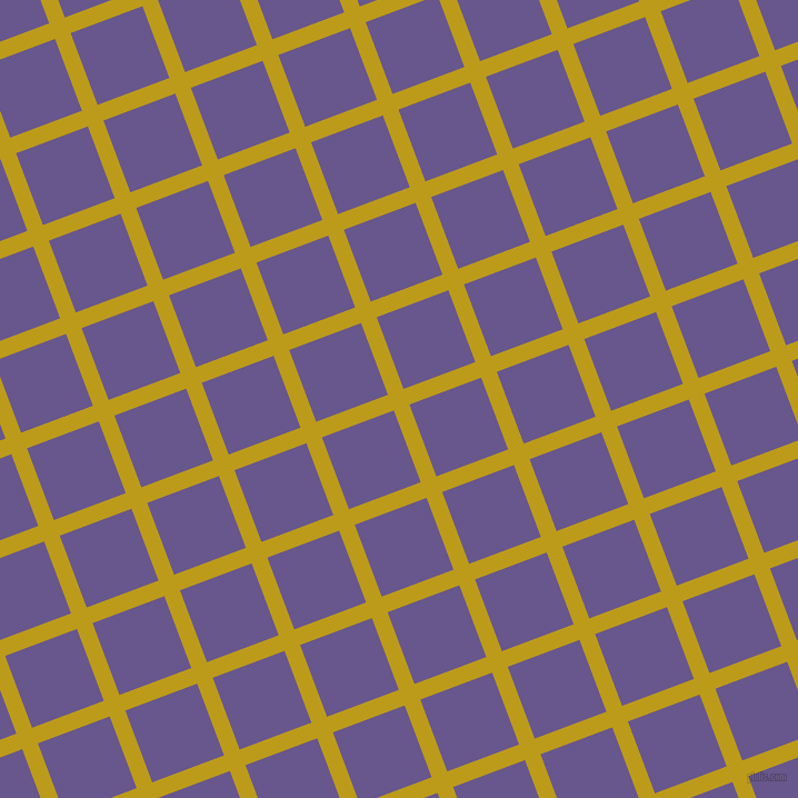 21/111 degree angle diagonal checkered chequered lines, 15 pixel line width, 69 pixel square size, Buddha Gold and Butterfly Bush plaid checkered seamless tileable