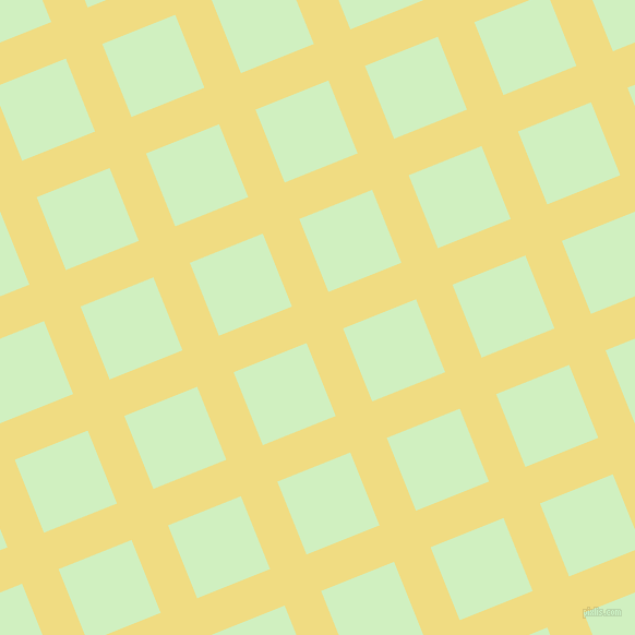 22/112 degree angle diagonal checkered chequered lines, 36 pixel lines width, 72 pixel square size, Buff and Tea Green plaid checkered seamless tileable