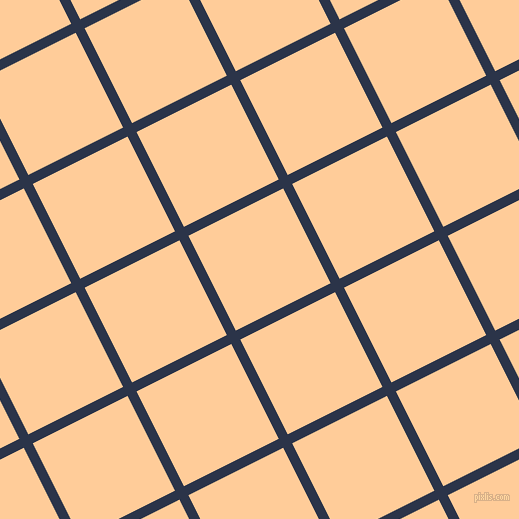27/117 degree angle diagonal checkered chequered lines, 10 pixel line width, 106 pixel square size, Bunting and Peach-Orange plaid checkered seamless tileable