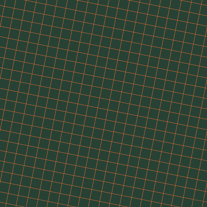 79/169 degree angle diagonal checkered chequered lines, 1 pixel line width, 32 pixel square size, Burnt Orange and English Holly plaid checkered seamless tileable