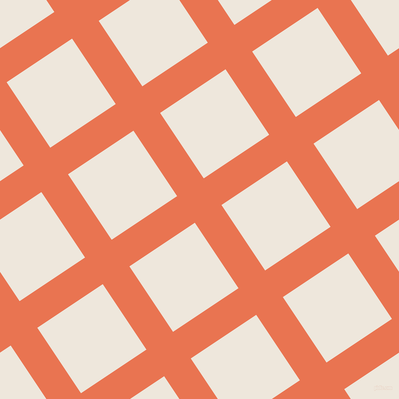 34/124 degree angle diagonal checkered chequered lines, 63 pixel lines width, 155 pixel square size, Burnt Sienna and White Linen plaid checkered seamless tileable