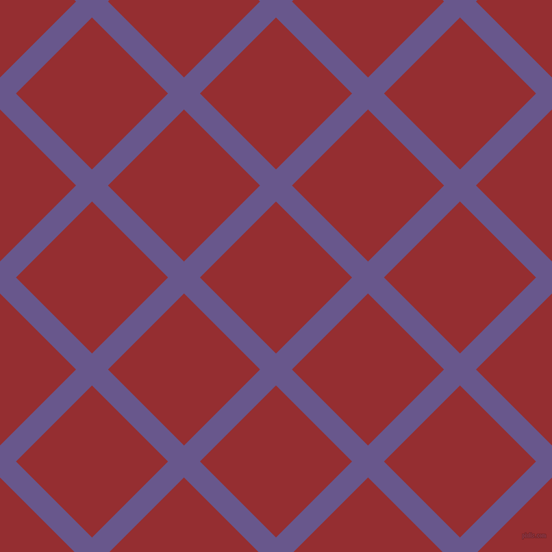 45/135 degree angle diagonal checkered chequered lines, 33 pixel lines width, 157 pixel square size, Butterfly Bush and Guardsman Red plaid checkered seamless tileable