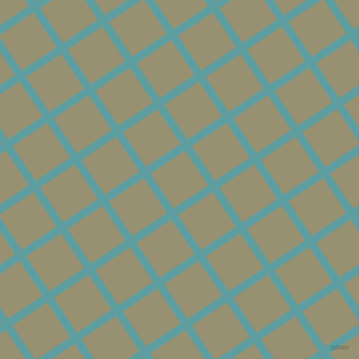 34/124 degree angle diagonal checkered chequered lines, 16 pixel lines width, 82 pixel square size, Cadet Blue and Gurkha plaid checkered seamless tileable