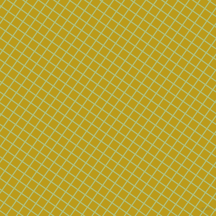 55/145 degree angle diagonal checkered chequered lines, 4 pixel line width, 27 pixel square size, Caper and Buddha Gold plaid checkered seamless tileable