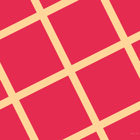 27/117 degree angle diagonal checkered chequered lines, 32 pixel lines width, 228 pixel square size, Caramel and Amaranth plaid checkered seamless tileable