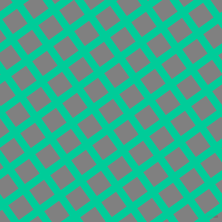 36/126 degree angle diagonal checkered chequered lines, 26 pixel line width, 62 pixel square size, Caribbean Green and Grey plaid checkered seamless tileable