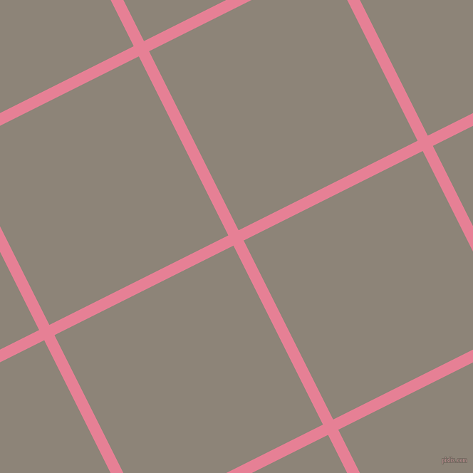 27/117 degree angle diagonal checkered chequered lines, 16 pixel lines width, 281 pixel square size, Carissma and Schooner plaid checkered seamless tileable